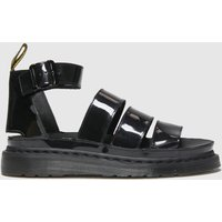 Dr Martens Black Clarissa Ii Patent Sandals