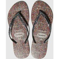 Havaianas Black & Silver Slim Carnival Sandals