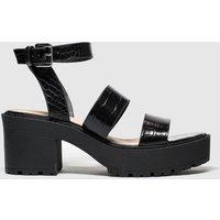 PUBLIC DESIRE Black Buffalo Sandals