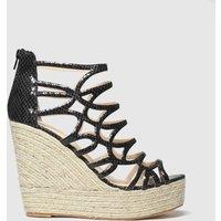 PUBLIC DESIRE Black Curly Sandals
