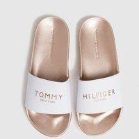 Tommy Hilfiger Bronze Metallic Pool Slide Sandals