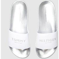 Tommy Hilfiger Silver Glitter Pool Slide Sandals