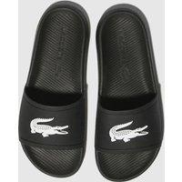 Lacoste Black & White Croco Slide 119 3 Sandals