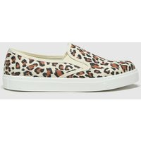 Schuh Black & Brown Awesome Slip On Trainers