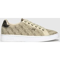 Guess Beige & Brown Beckie Trainers