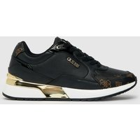 GUESS Black & Brown Moxea Trainer Trainers