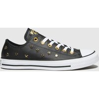 Converse-Black-and-Gold-Star-Stud-Ox-Trainers