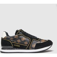 GUESS Black & Brown Agos Trainers