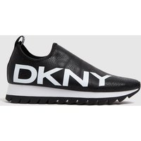 DKNY-Black-and-White-Azer-Slip-On-Trainers