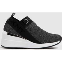 DKNY-Black-and-Silver-Paz-Wedge-Sneaker-Trainers