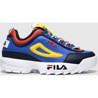 Fila Blue & Yellow Disruptor Trek Lace Trainers
