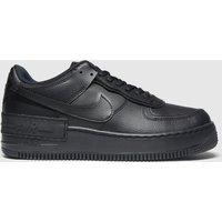 Nike Black Air Force 1 Shadow Trainers
