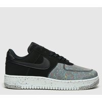 Nike-Black-and-Grey-Air-Force-1-Crater-Trainers