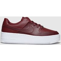 Nike Red Air Force 1 Sage Low Trainers