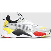 PUMA White & Grey Rs-x Toys Trainers