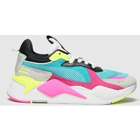 PUMA White & Pink Rs-x Reinvent Trainers