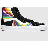 Vans-Black-and-Yellow-Sk8hi-Reissue-Trainers