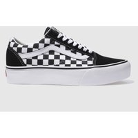 Vans-Black-and-White-Old-Skool-Platform-Check-Trainers