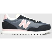 New Balance Black & Pink 527 Trainers