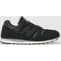 New Balance Black & White 373 V1 Shimmer Trainers