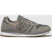New Balance Grey 373 Metallic Trainers
