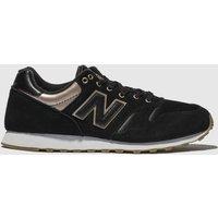 New Balance Black & Gold 373 Metallic Trainers
