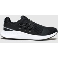 Under Armour Black & White Charged Breathe Lace Trainers