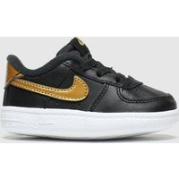 'Nike Black & Gold Air Force 1 Crib Shoes Baby