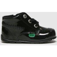 KicKers Black Hi B Zip Lthr Shoes Baby