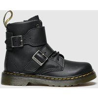 'Dr Martens Black Joska Boots Toddler