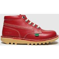 Kickers Red Hi Zip Boots Toddler