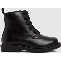 Schuh Black Creator Lace Up Boots Toddler