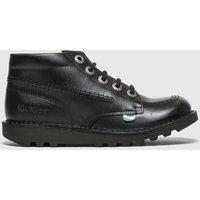 Kickers Black Hi Zip Boots Junior