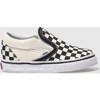 Vans Black & Cream Classic Slip-on Trainers Toddler