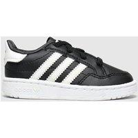 Adidas Black & White Team Court El Trainers Toddler