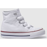 Converse White All Star Hi Trainers Toddler