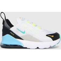Nike White & Green Air Max 270 Trainers Toddler