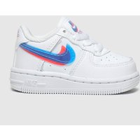 Nike White & Blue Air Force 1 Lv8 Ksa Trainers Toddler