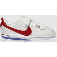 Nike White & Red Cortez Classic Trainers Toddler