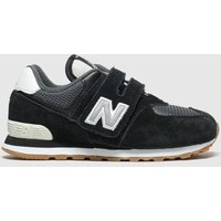 New Balance Black & Grey 574 Trainers Toddler