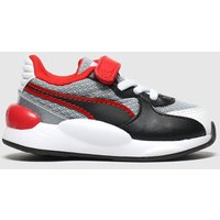 Puma Black & Red Rs 9.8 Player Trainers Toddler
