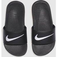 Nike Black & White Kawa Slide Sandals Junior