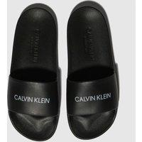 CALVIN KLEIN Black Slides Sandals Junior