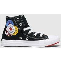 Converse Black & White Hi Logo Play Trainers Junior