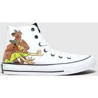 Converse White & Brown All Star Hi Scooby Trainers Junior