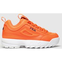 Fila Orange Disruptor Ii Neon Trainers Junior
