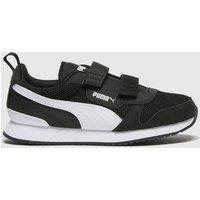 PUMA Black & White R78 V Trainers Junior