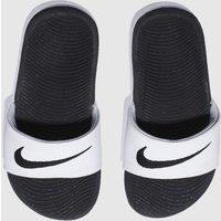 Nike White & Black Kawa Slide Sandals Youth