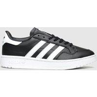 Adidas Black & White Team Court Trainers Youth