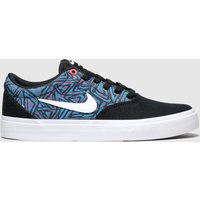 Nike Sb Black And Blue Charge Trainers Youth